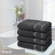 4 bathsheet black