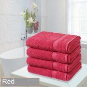 4 bathsheet red