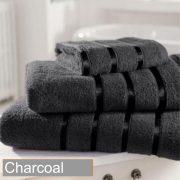satin stripe charcoal