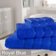 satin stripe royal blue