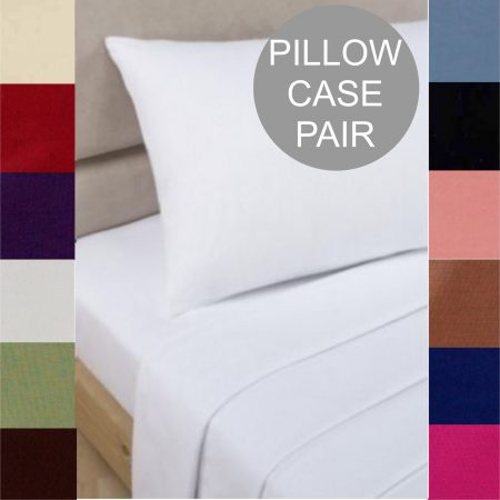 PILLOWCASE PAIR percale sheeting