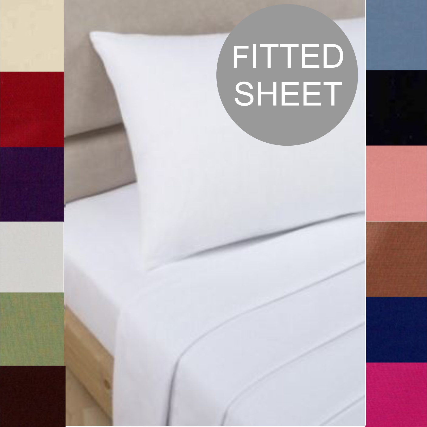 Non Iron Percale Fitted Sheets Ezy Sleep