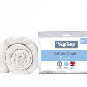 cotton cloud duvet blue