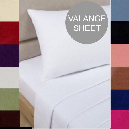VALANCE percale sheeting